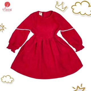 Váy Trẻ Em TIHON Đầm Vải Thô Nhung Cực Thời Trang Cho Bé Gái VT07-1121Đ-906