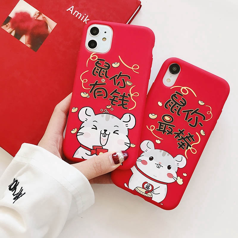 Soft Case iPhone 11 Pro 6 6s 7 8 Plus X XS MAX XR Chinese new year