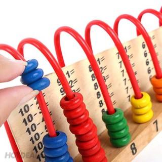 Đồ chơi bàn tính gỗ học đếm – bảng tính cầu vồng cho bé
