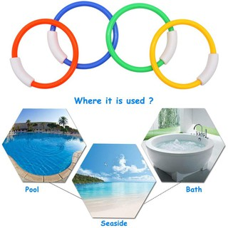 15Nhẫn bơi Gậy lặn Đồ chơi Nước Bể bơi Đồ chơi Mùa hè hoàn hảo Quà tặng cho 6 7 8 9 tuổi