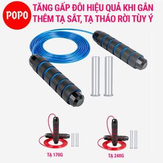 Dây nhảy dây thể dục MÀU POPO TS36C tập thể lực giảm cân giảm mỡ bụng đốt cháy calo, tập luyên kickbox, boxing thumbnail