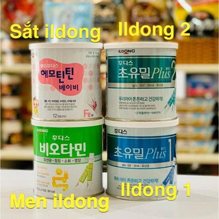Sữa Non ildong Hàn Quốc Số 1, Số 2 - Men Vi Sinh ildong - Sắt ildong Hộp 100 Gói - myphamchinhhangladycare thumbnail