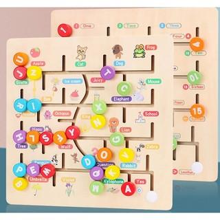 Bảng đồ chơi mê cung Số hoặc Chữ cái tiếng Anh