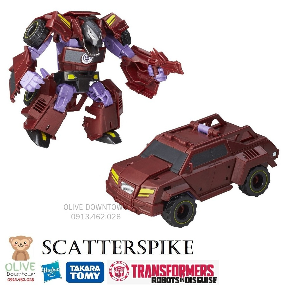 SCATTERSPIKE Robot 11.5cm lắp ráp thành xe – Transformers dòng Robot-In-Disguise