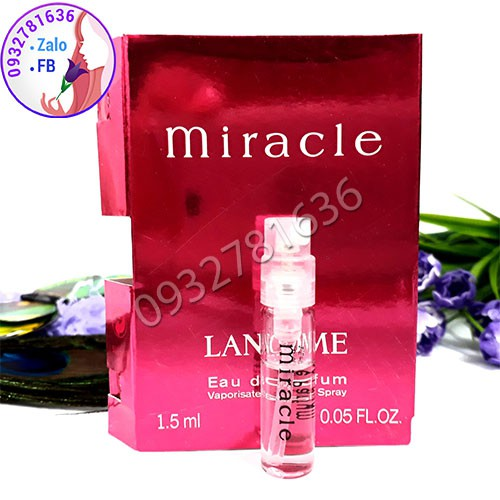 MẪU THỬ NƯỚC HOA NỮ LANCOME MIRACLE 1.5ML - 3231140 , 1095562196 , 322_1095562196 , 150000 , MAU-THU-NUOC-HOA-NU-LANCOME-MIRACLE-1.5ML-322_1095562196 , shopee.vn , MẪU THỬ NƯỚC HOA NỮ LANCOME MIRACLE 1.5ML