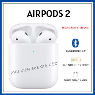 AIRPODS 2 Tai nghe Bluetooth 5.0 Nguyên seal phiên bản cao cấp - Dùng cho Iphone và Android thumbnail