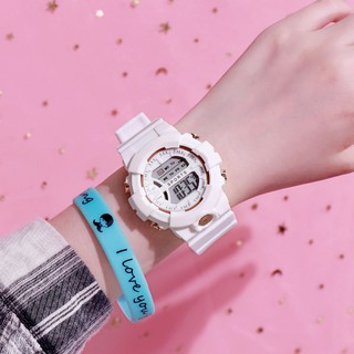 Hình ảnh Đồng hồ nữ và nam Tisselly điện tử c562 mẫu thể thao đầy đủ các chức năng và dây nhựa-7