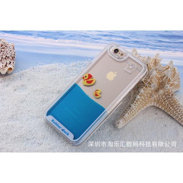 Ốp bể vịt hoặc cá có nước bên trong iphone 5 5s 6 6s 6 plus