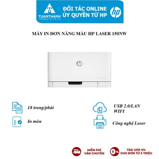 Máy in màu HP Color Laser 150nw,1Y WTY_4ZB95A