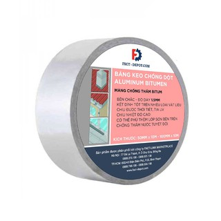 Băng keo chống thấm dột mái tôn, vá ống nước siêu dính Bitumen