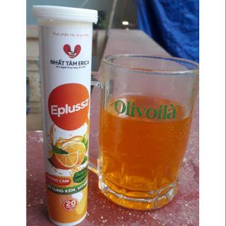 Viên sủi vitamin C hương cam hỗ trợ tiêu hóa