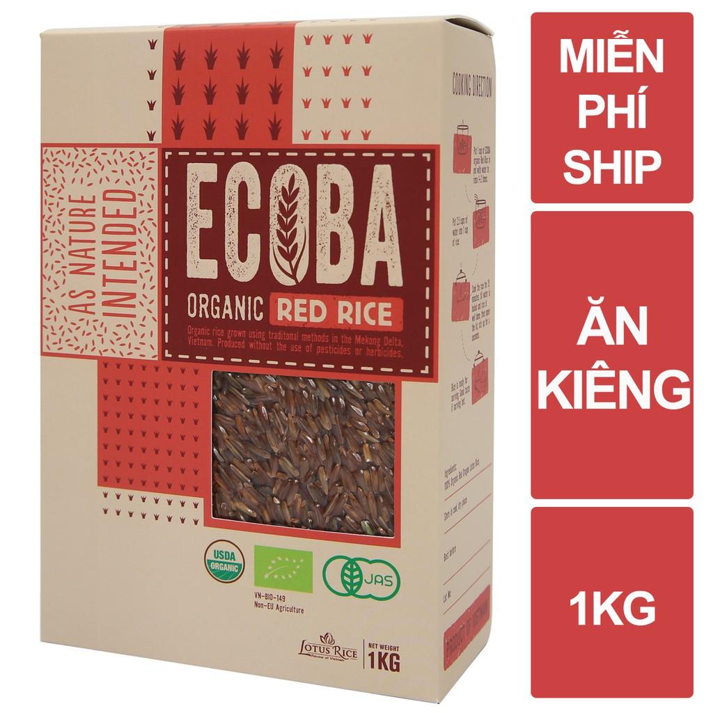 [Mã NOWSHIPVUI2 giảm 25k đơn 50k] Gạo lứt đỏ hữu cơ cao cấp/ECOBA Huyết Rồng 1kg