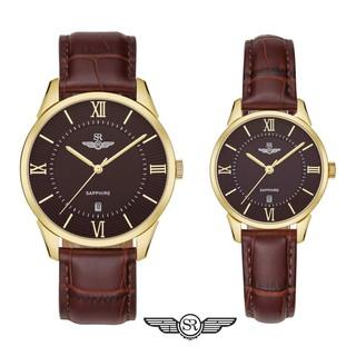 Đồng hồ cặp đôi SRWATCH Couple-F SR80050.6103CF nâu thiết kế sang trọng, quyến rũ Bảo Hành Chính Hãng 12 tháng thumbnail