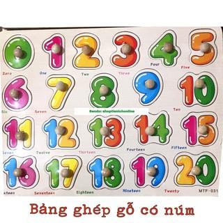 Bảng gỗ có núm cầm tay học chữ cái, chữ số, nhiều chủ đề (an55)