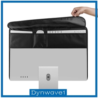 [DYNWAVE1] Monitor Dust Cover Nylon PU Leather Antistatic Screen Display LCD HD Panel Sleeve Case Protective Compatible w/ for iMac Computer TV