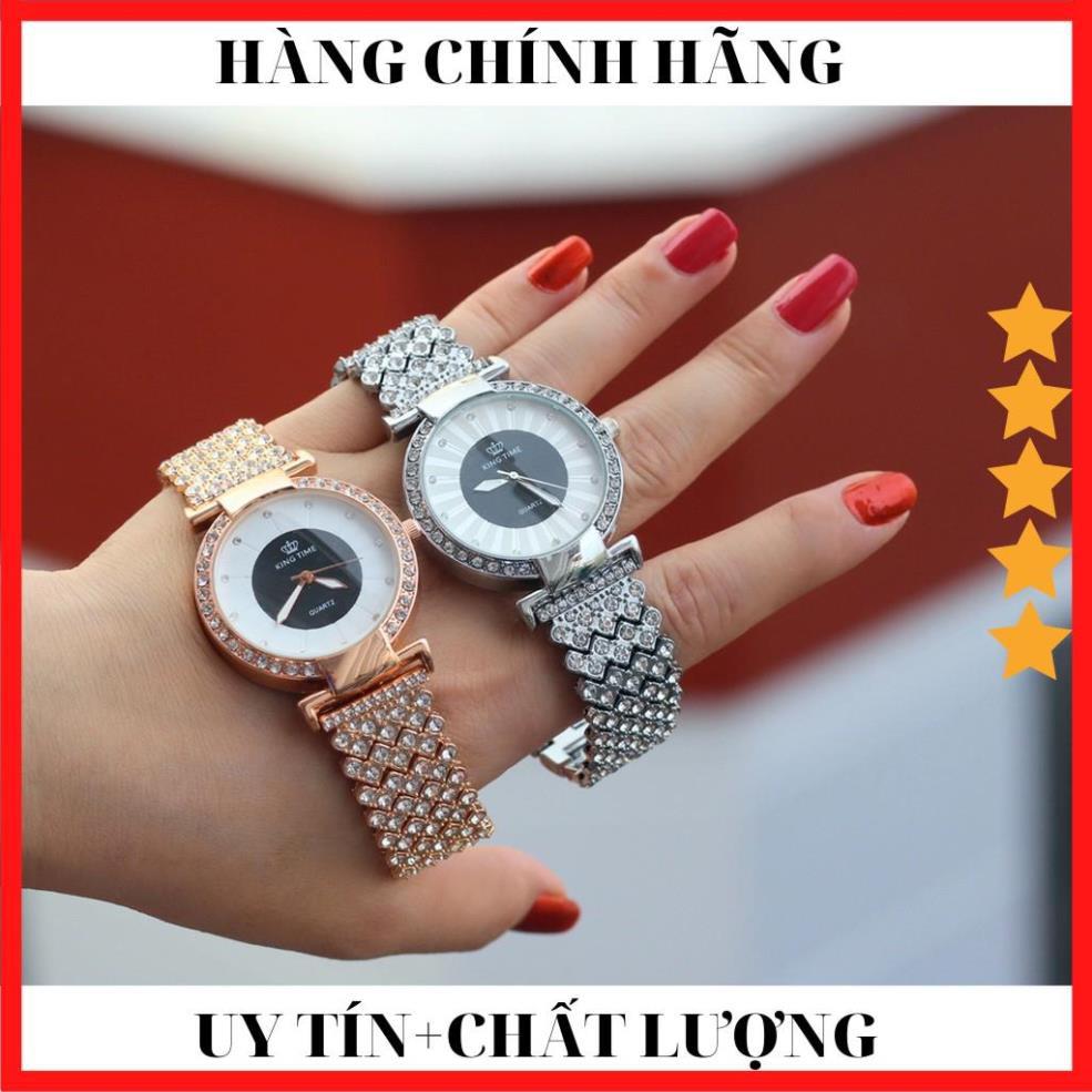 [ HÀNG CAO CẤP ] Đồng hồ nữ KING TIME FULL Kim Cương - Mặt To Size Lớn Nổi Bật