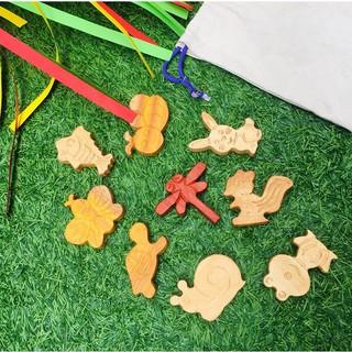 Bộ thú chủ đề Khu rừng xanh đồ chơi bằng gỗ an toàn cho bé yêu của bạn