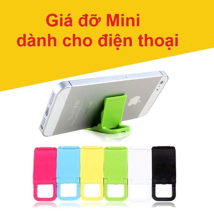 Giá đỡ điện thoại mini gấp gọn 1 nấc bằng nhựa nhiều màu để ví túi áo quần nhỏ youngcityshop 30.000