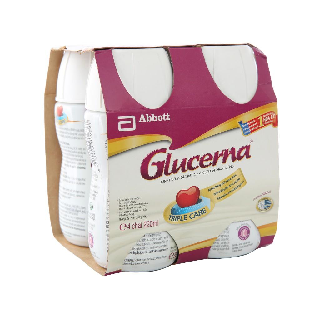Sữa Bột Pha Sẵn Abbott Glucerna Lốc:4 chai x 220ml