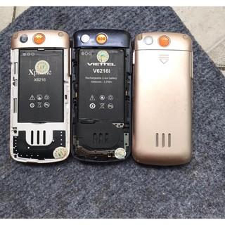 Điện thoại Viettel V6216i Hoặc Xphone 2 Sim Cũ – Điện Thoại Người Già Kèm Pin Sạc