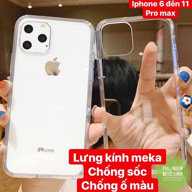 ⚡️LƯNG MEKA VIỀN SILICON CHỐNG SỐC CHỐNG Ố MÀU ⚡️ ỐP IPHONE 11 PRO MAX XS MAX XR X 8plus 7plus 8 7 6plus 6 TRONG