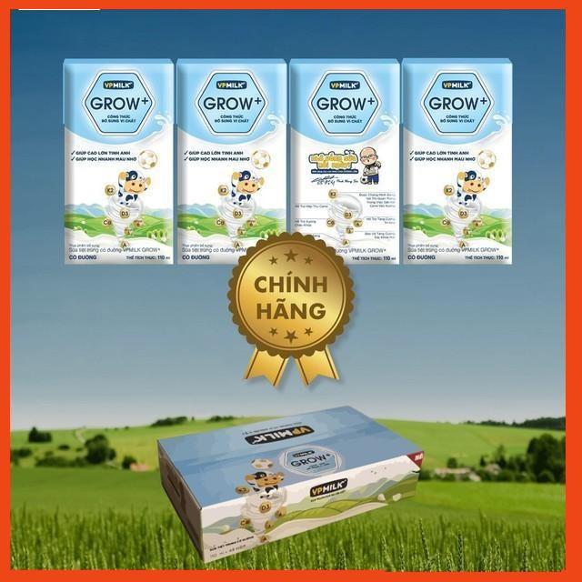 Thùng sữa VPMilk Grow+ 110ml & 180ml (12 lốc - 48 hộp)