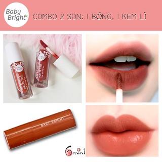 [ƯU ĐÃI] Combo 2 Son Một Bóng Một Kem Lì Karmart Baby Bright Thái Lan thumbnail