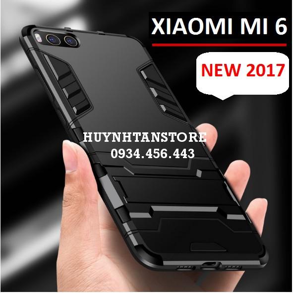 Ốp Xiaomi Mi 6_Ốp chống sốc Iron man phiên bản màu đen cực hot