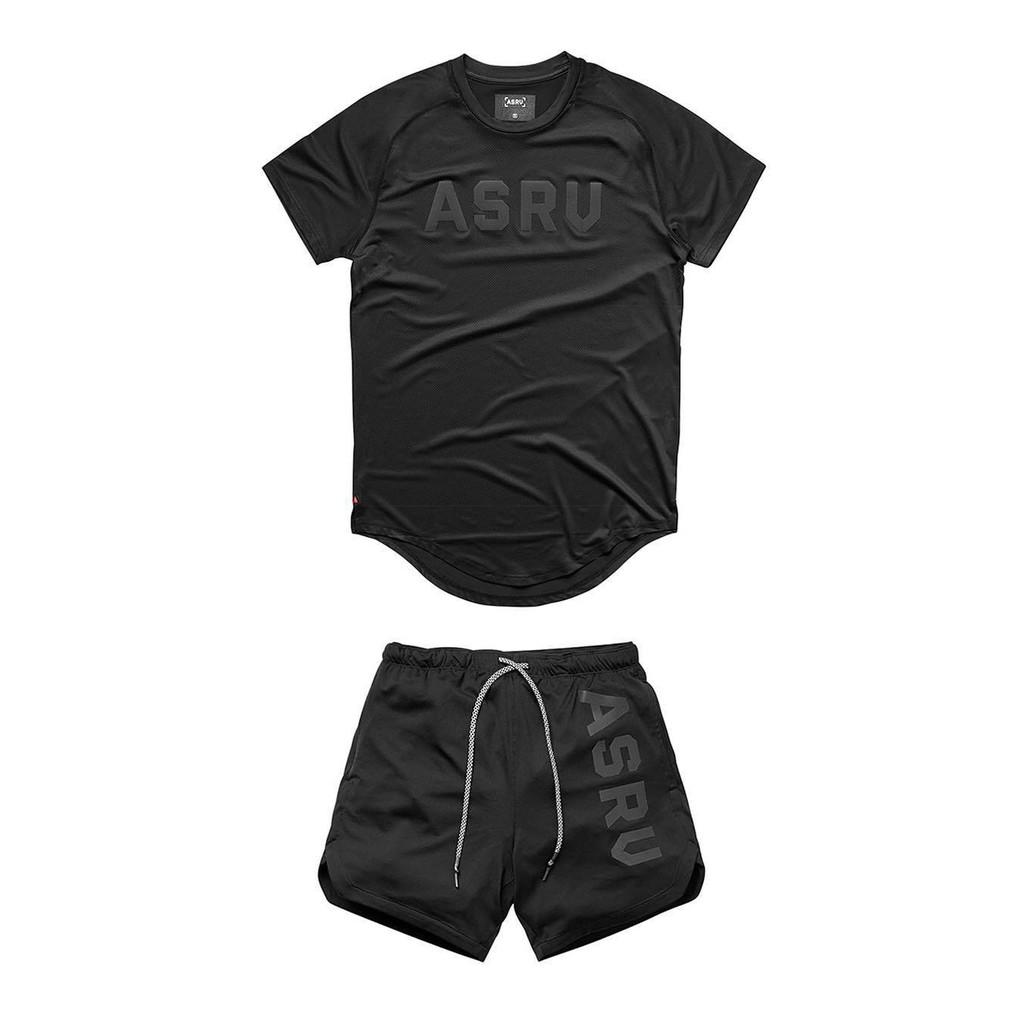 Bộ đồ tập gym nam ASRV thun lạnh co giãn 4C,quần áo gym nam đẹp(video review)