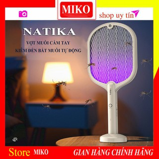 [Model 2021] Đèn Bắt Muỗi Tự Động, Kiêm Vợt Muỗi Cầm Tay NATIKA. Chống Chai Pin Lithium Bằng Chip 1C. Bảo Hành 2 Năm 5.0 thumbnail
