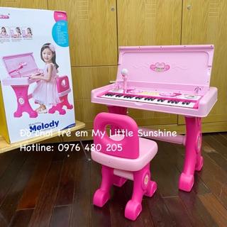 Đàn piano có micro, 49 phím, gấp lại thành bàn học cho bé