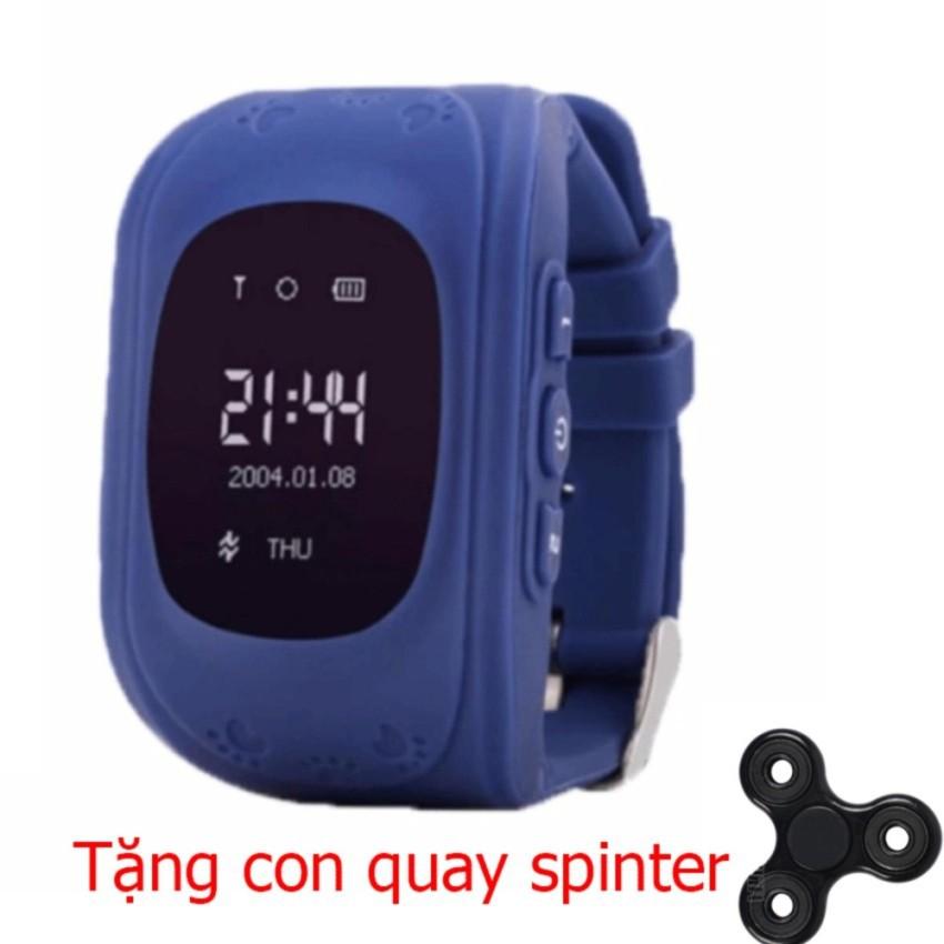 Đồng hồ thông minh giám sát trẻ em ( xanh tím) tặng kèm con quay giảm stress