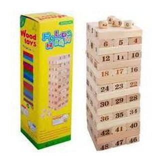Bộ đồ chơi rút gỗ 54 thanh mini .