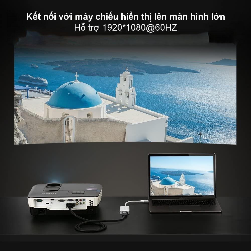 [Mã ELMALL300K giảm 5% đơn 500K] Cáp chuyển đổi USB type C sang VGA dài 25cm UGREEN CM114 40866