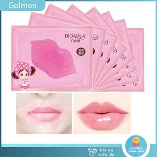 Mặt nạ môi Bioaqua mặt nạ ủ môi giúp môi hồng mịn và căng bóng Golmon thumbnail