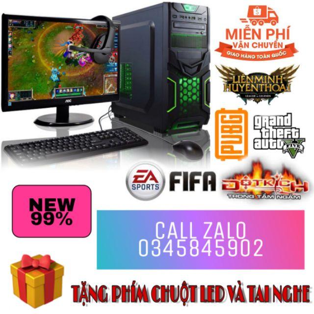 BỘ MÁY TÍNH CHƠI GAME, PC GAMING CPU 4.3GHZ VGA 7660D 800GHZ RAM 4GB