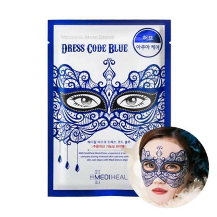 Mặt nạ in 3D Mediheal Mask Dress Code Blue27ml