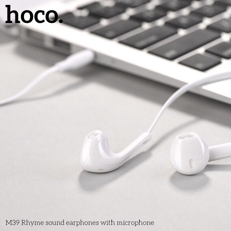 Tai nghe nhét tai Hoco M39 có mic tăng giảm âm lượng chân cắm 3.5
