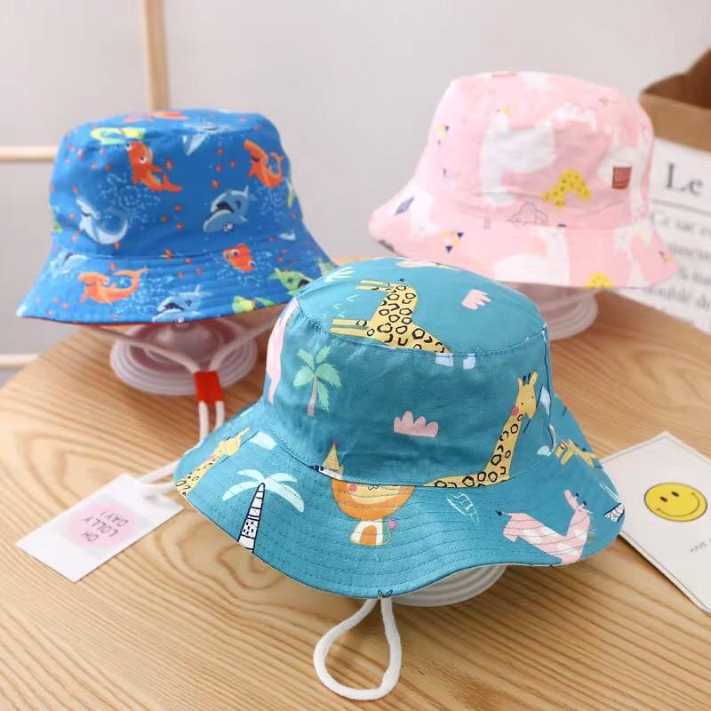 Mũ bucket trẻ em thời trang đi biển, mũ rộng vành cho bé (nhiều mẫu)