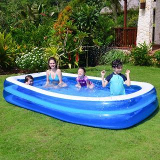 Bể bơi bơm hơi dày chống mòn dành cho gia đình dùng trong các bữa tiệc nước mùa hè thumbnail