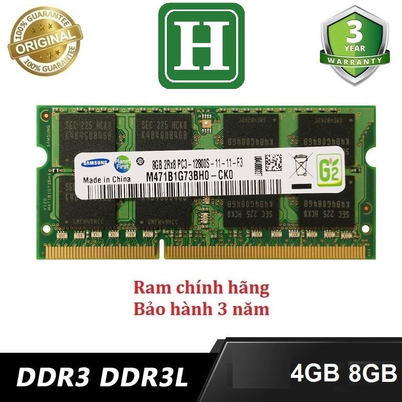 Ram Laptop 4Gb, 8Gb DDR3L bus 1600 và một số loại khác, hàng tháo máy chính hãng, bảo hành 3 năm