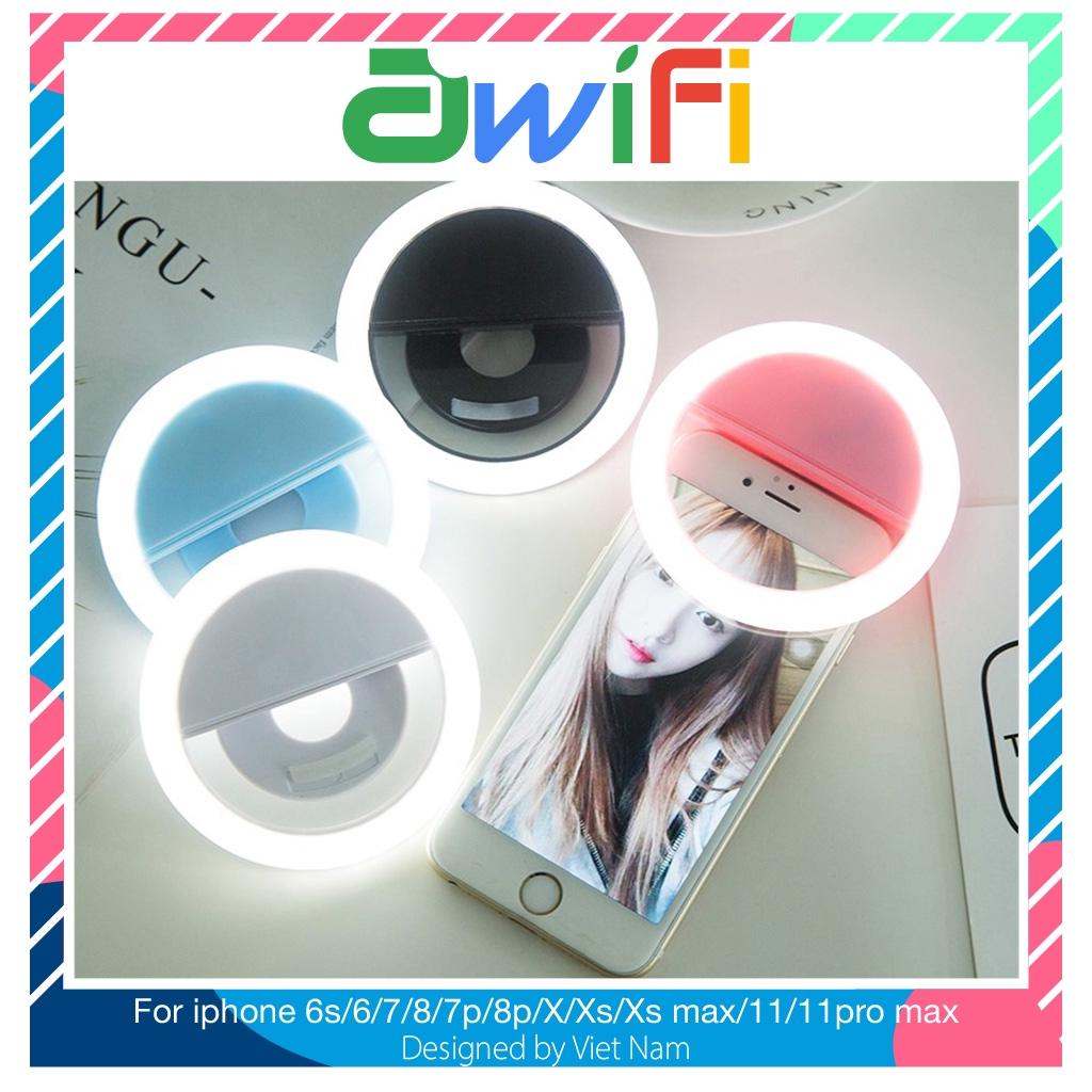 Đèn selfie ring light hỗ trợ chụp hình live stream tặng kèm dây sạc  - Awifi Case L4-4