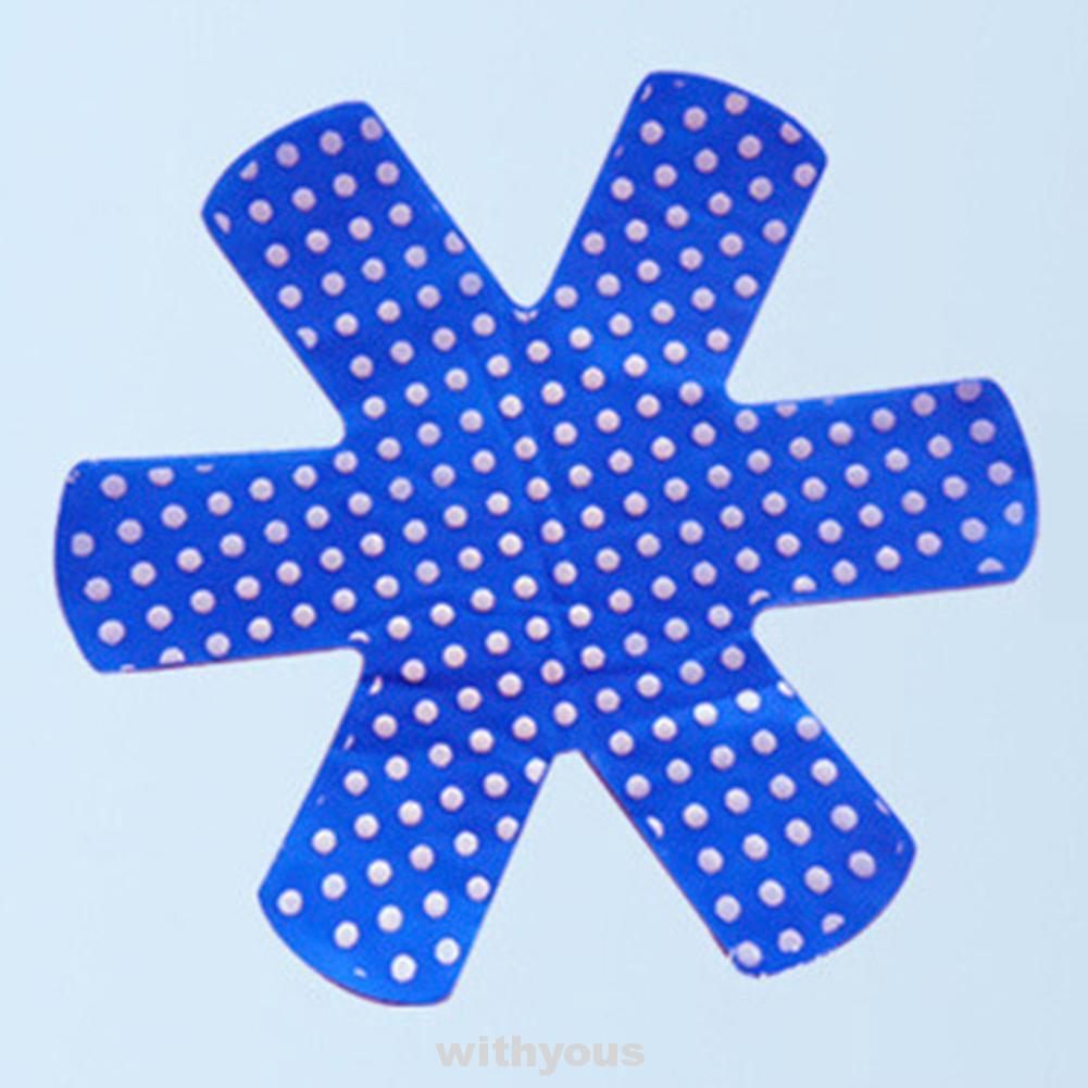 5Pcs Accessories Anti Scratch Holder Kitchen Tool Polka Dots Non Stick Woven Pot Mat
