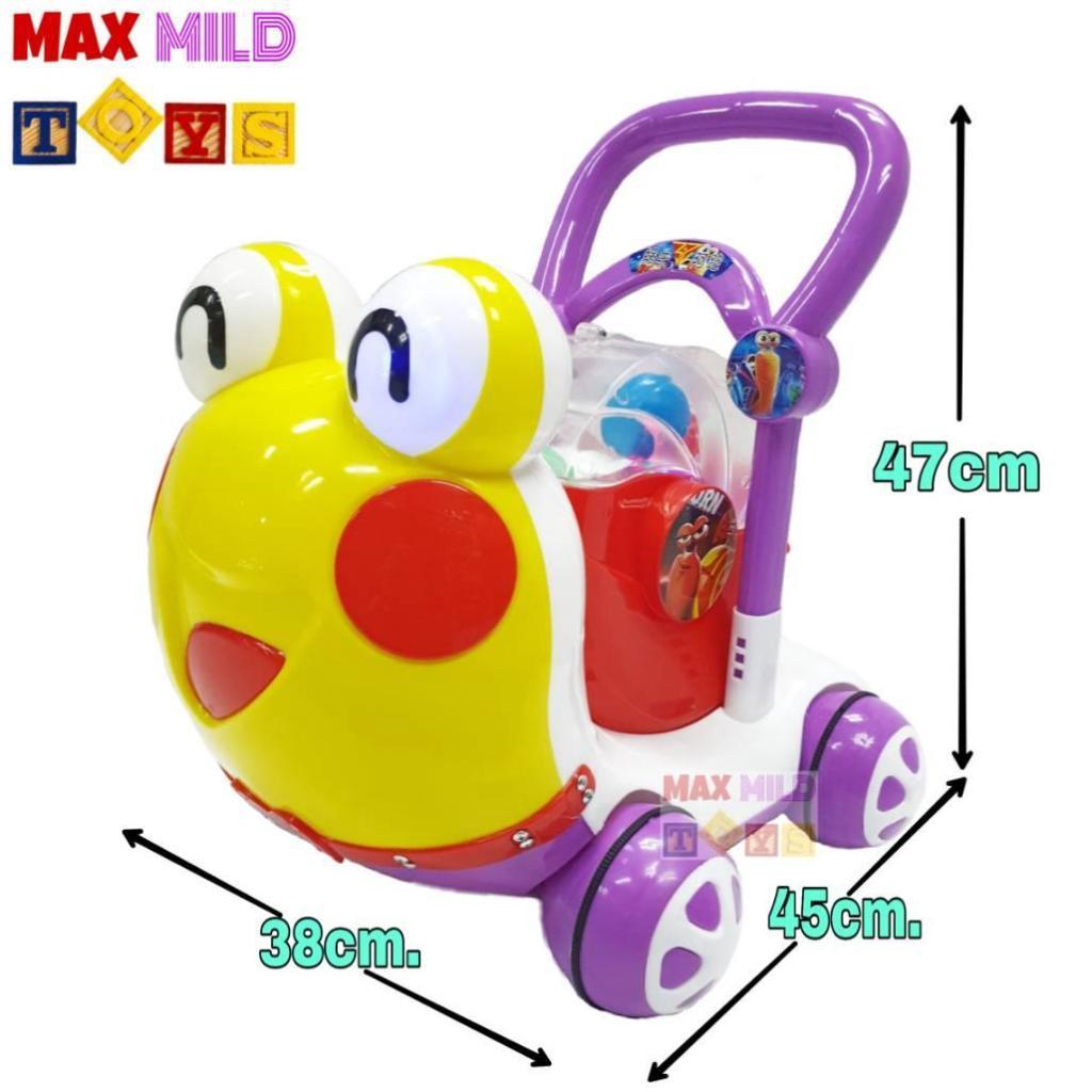 Baby Products Snail Baby Walker รถผลักหัดเดินหอยทาก มีไฟ มีเพลง ปรับหนืดได้aby Products Snail Baby Walker รถผลักหัดเดินห