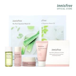 Bộ quà tặng mini dưỡng sáng và dưỡng ẩm da innisfree Jeju Cherry Blossom Set thumbnail