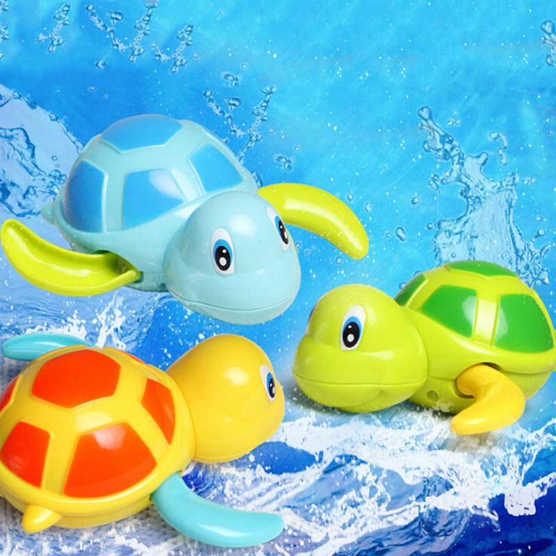 Baby water toy infant swim turtle wound-up chain clockwork kids beach bath