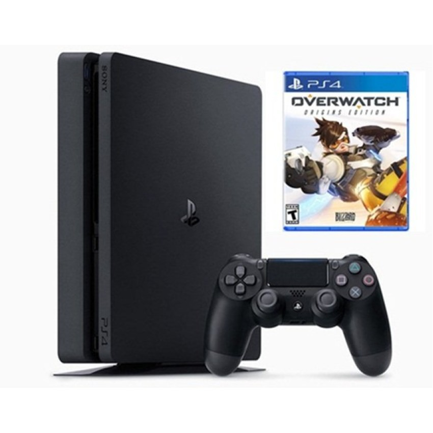 Máy Sony PlayStation PS4 Slim 500Gb CUH2006A kèm đĩa game Overwatch