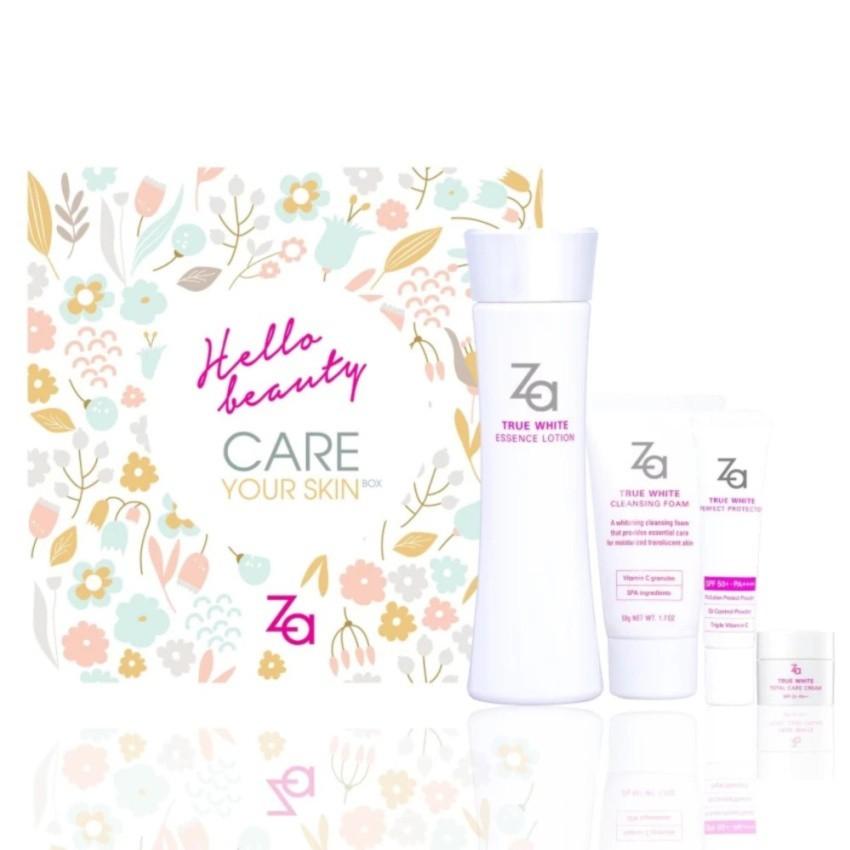 Bộ dưỡng trắng 3 trong 1 Za True White Essence Lotion Floral Box - 2000036058141