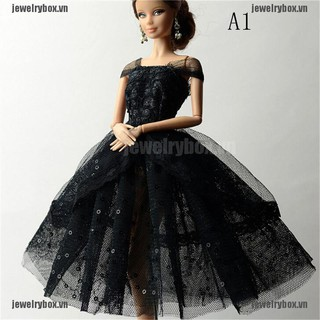 "JX Handmade Doll Dress Clothes For 11"" 1/6 Dolls Party Sequin Tulle Gown Dress[VN]"