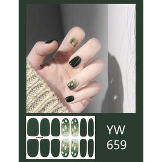 Nhãn dán trang trí móng tay màu gradient long lanh YW657-YW676 thumbnail